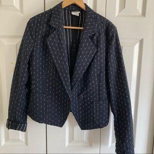 DRIES VAN NOTEN Gray Cropped Wool Jacket Sz 38